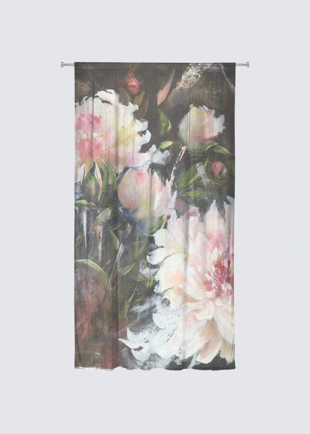 Picture of Rose Rideau Flora in Knit Chiffon