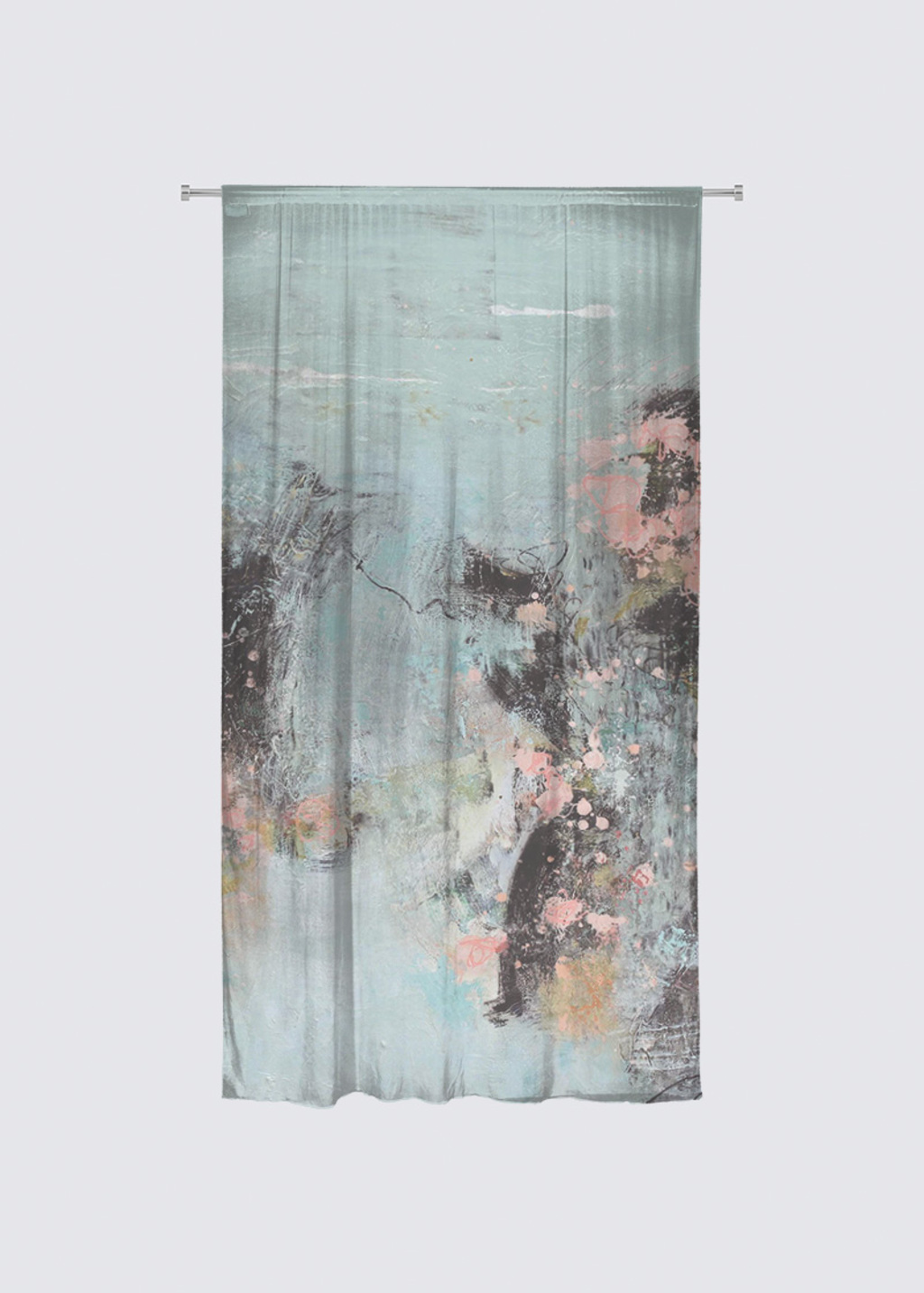 Picture of Moment paisible Rideau Flora in Knit Chiffon