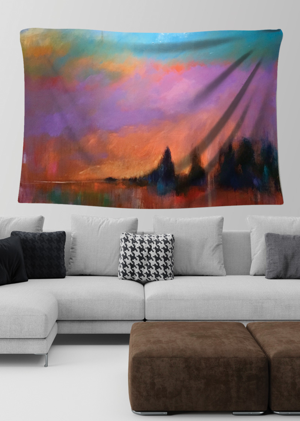 Picture of Coucher Orangé Lydia Large Wall Tapestry