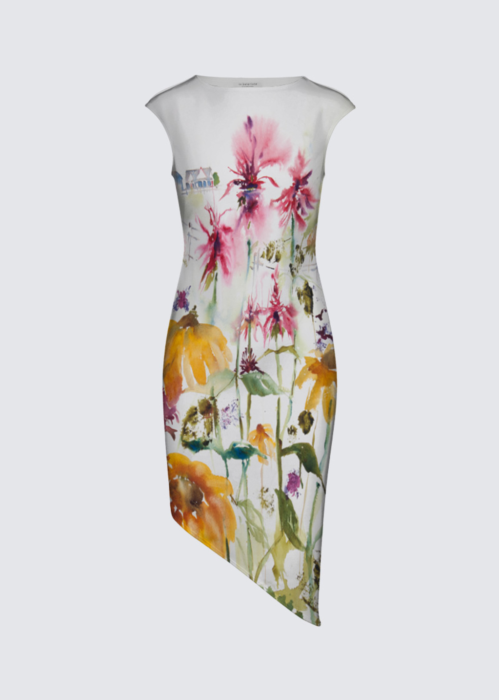 Picture of MEMORIES OF A SUMMER GONE BY Felicia Asymmetric Dress