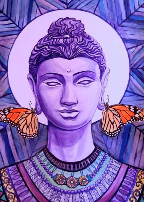 Picture of Purple Monarch Buddha