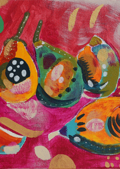 Picture of Pears on Red