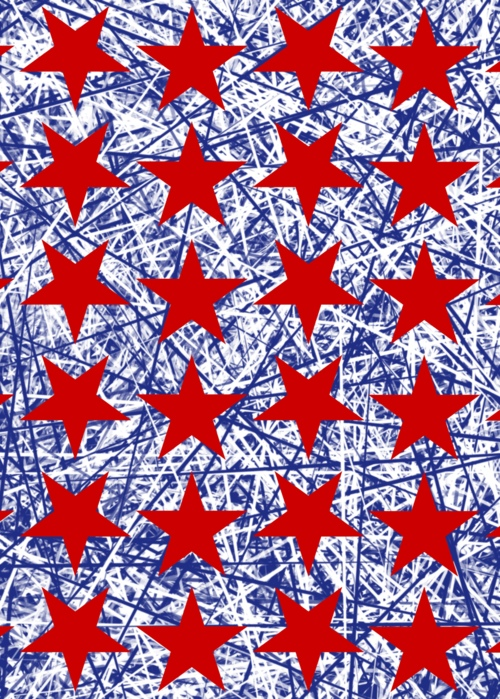 Picture of USA Red Stars B W Spicule Background Jocelyn Sperduto
