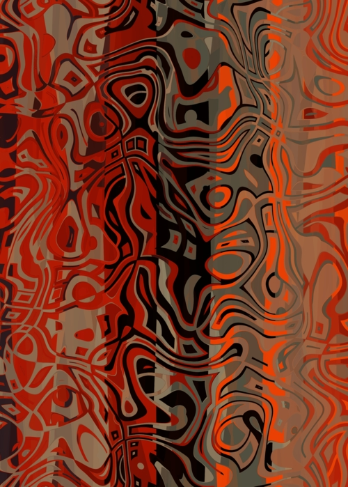 Picture of Red Black Abstract