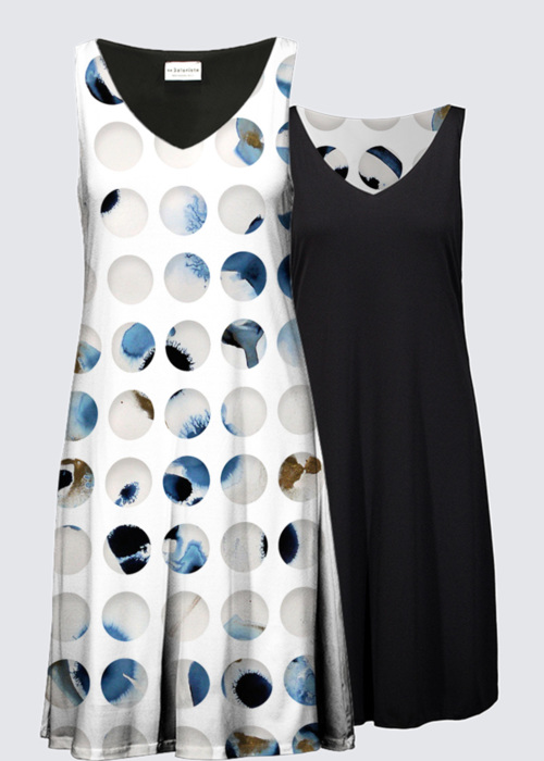 Picture of Blue dots Kate Reversible Dress