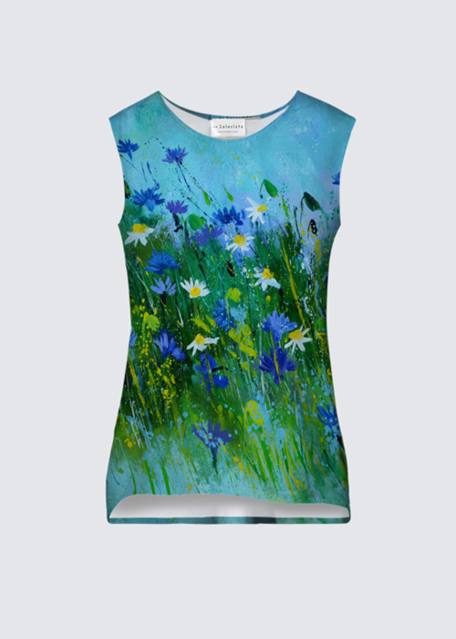 Picture of Blue flowers Coco Tank in ITY