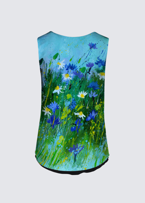 Picture of Blue flowers Brigitte Tank