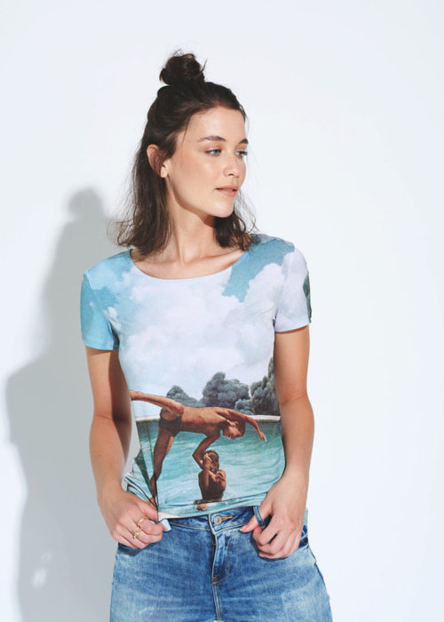 Picture of Water Lilies and Koi K Smith Tee